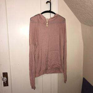 blush brandy melville hoodie